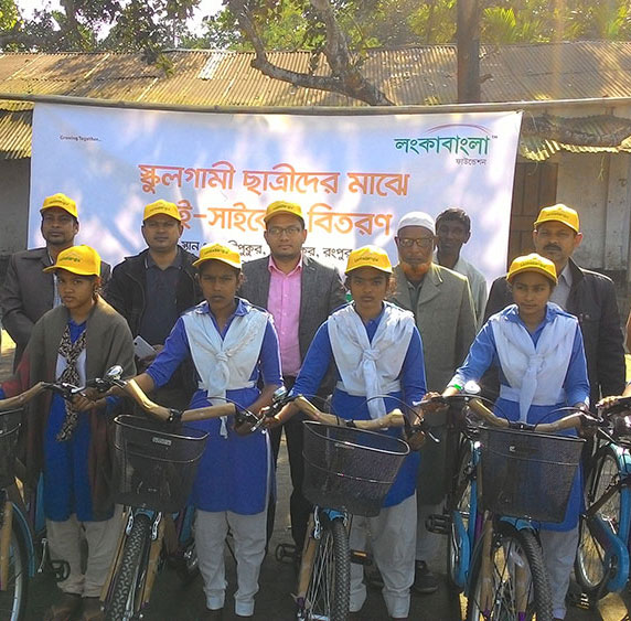 Bicycle Distribution Rangpur 2016